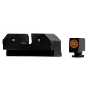 XS Sights RAM Night Sights Fits GLOCK 42/43/43x/48 Traditional 3 Dot Tritium Night Sight Configuration High Contrast Orange Front Steel Construction Black