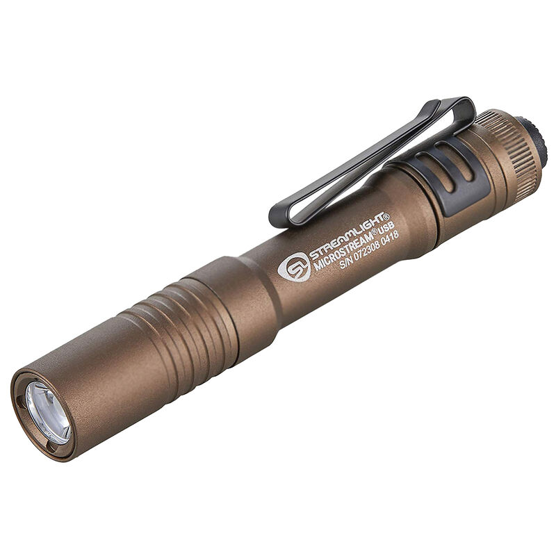 Streamlight Microstream USB, Coyote, Rechargeable, Aluminum, 250 Lumens