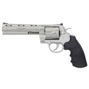 """Colt Anaconda .44 Magnum Revolver 6"""" Barrel 6 Rounds Hogue Rubber Grips Semi-Bright Stainless Steel Finish"""
