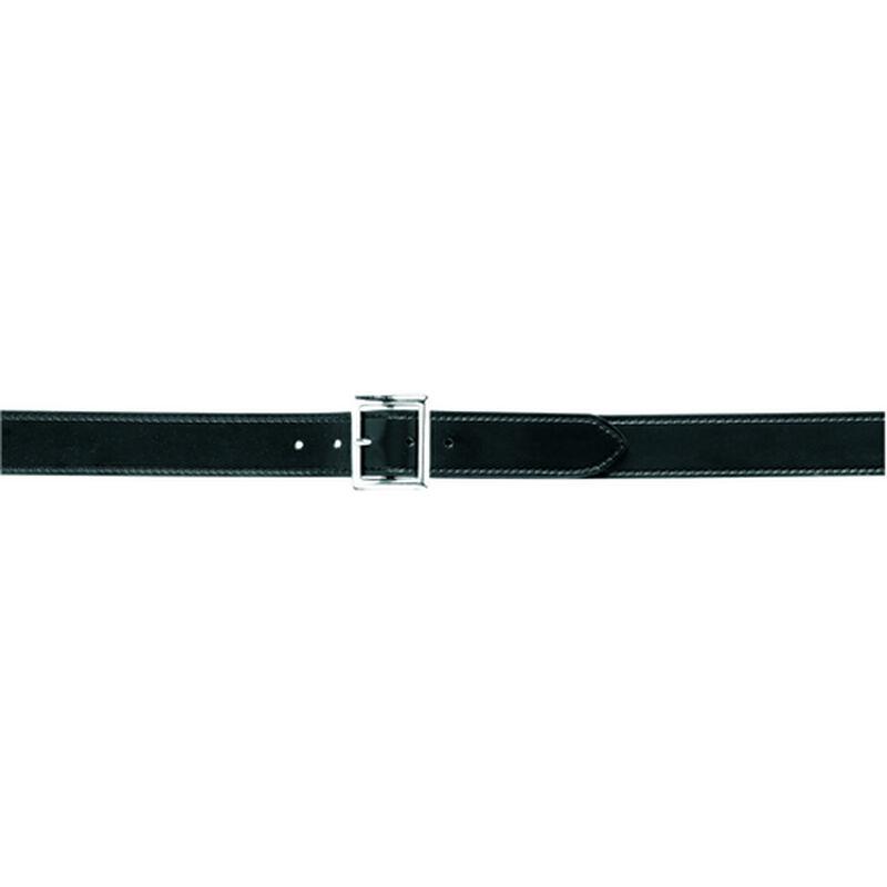 "Safariland Garrison Belt 1.75"" Wide Size 36 Brass Buckle Leather Plain Black"