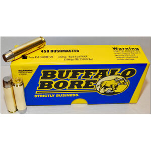 Buffalo Bore .450 Bushmaster Ammunition 20 Rounds HC 360 Grains