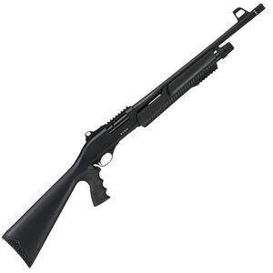 "ATA Arms ETRO10 12 Gauge Pump Action Shotgun 18.5"" Barrel 3"" Chamber 5 Rounds Adjustable Sight Synthetic Pistol Grip Stock Black Finish"