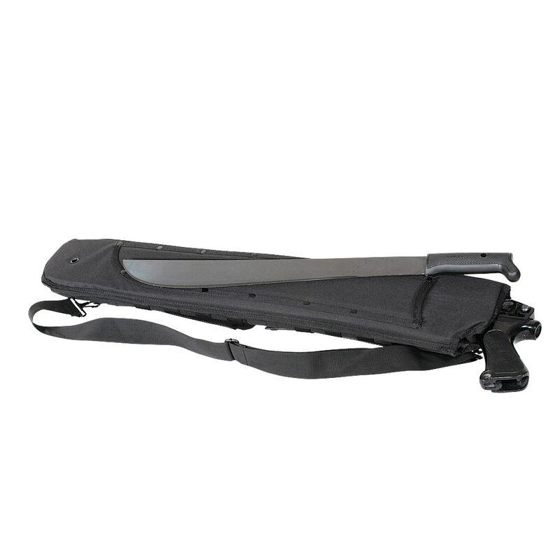 Voodoo Tactical Shotgun Scabbard with Attached Machete Sheath Nylon Black 20-007301000