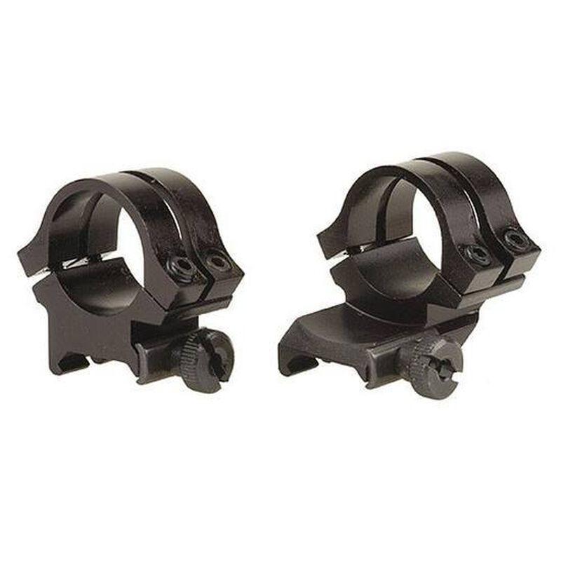"""Weaver 1"""" High Quad-Lock Quick-Detach Extension Rings Matte Black Aluminum"""