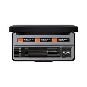 MagLite XL200 Flashlight LED 172 Lumens AAA Battery Push Button Tailcap Switch Aluminum Black Presentation Box XL200-S3017