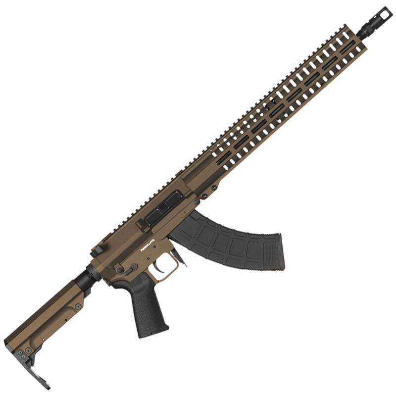 "CMMG Resolute 300 Mk47 7.62x39mm AR-15 Style Semi Auto Rifle 16"" Barrel 30 Round AK-47 Magazine RML15 M-LOK Handguard RipStock Collapsible Stock Midnight Bronze Finish"