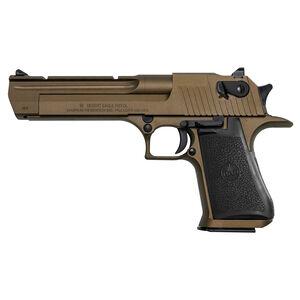 "Magnum Research Desert Eagle Mark XIX Semi Auto Pistol .44 Remington Magnum 6"" Barrel 8 Rounds Fixed Combat Sights Weaver Accessory Rail Burnt Bronze Finish"