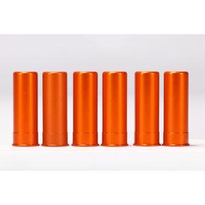 A-Zoom 12 Gauge Orange Snap-Cap Six Pack