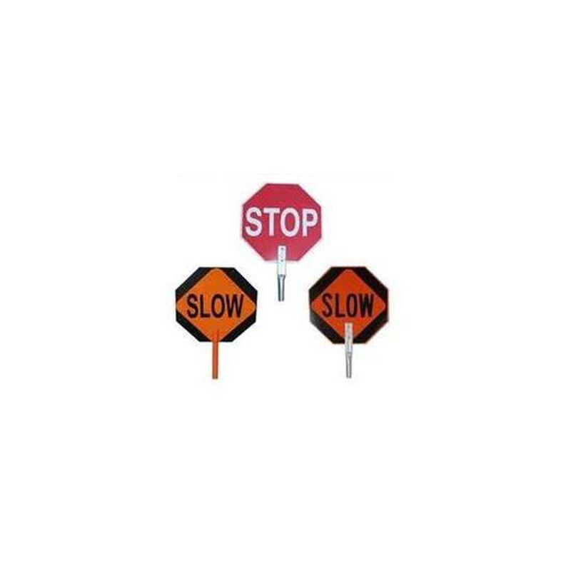 """Pro-Line Safety 18"""" STOP/SLOW Paddle Sign"""