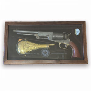 "Cimarron Walker's Walker Set .44 Caliber Black Powder Revolver 6"" Barrel Texas Ranger Limited Edition Display Case Walnut Grip Aged Blued Finish"