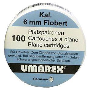 Umarex 6 Millimeter Revolver Flobert Blank  100 Rounds Brass 2252750