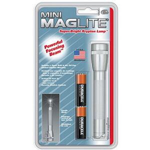 Maglite Mini-Mag Flashlight 2 AA Batteries 14 Lumen Aluminum Silver M2A106