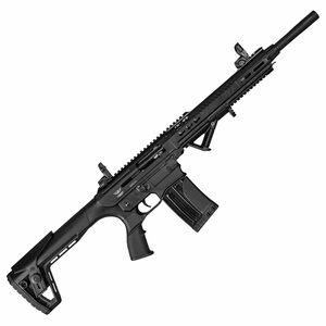 "Landor Arms AR-12 12 Gauge Semi Auto Shotgun 18.50"" Barrel 3"" Chamber 5 Rounds Detachable Box Magazine Synthetic Stock Black Finish"