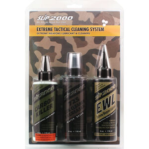 Slip2000 Extreme Tactical Cleaning System Firearm Lubricant/Cleaner Combo 4oz Bottles 3 Pack