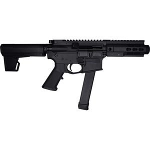 "Brigade Manufacturing BM-9 9mm Luger AR Style Semi Auto Pistol 5.5"" Barrel 33 Rounds UNI-Rail Handguard KAK M2 Pistol Brace Graphite Black Finish"
