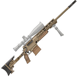 "FNH USA Ballista .338 Lapua Magnum Bolt Action Rifle 26"" Barrel 8/5 Round Magazines Ambidextrous Adjustable Stock System Flat Dark Earth"