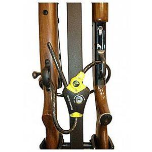 Rugged Gear 4-Gun Removable Compact Floor Mount Gun Holder Lock Kit