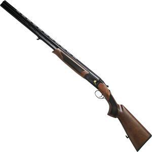 "Iver Johnson 600 O/U Break Action Shotgun 28 Gauge 28"" Barrel 2-3/4"" Chamber 2 Rounds Engraved Black Chrome Receiver Walnut Stock Black Finish"