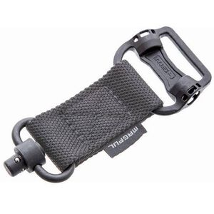Magpul MS1 Sling Quick Detach Adapter With Dual QD Loop Hardware Nylon/Steel Grey MAG519-GRY