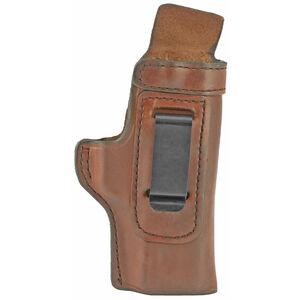 Don Hume H715-M Holster fits S&W M&P Shield EZ 2.0 9MM Right Hand IWB Leather Saddle Brown