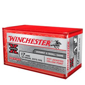 Winchester Super X .17 HMR Ammunition 50 Rounds, XTP , 20 Grain