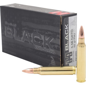 Hornady BLACK 5.56 NATO Ammunition 20 Rounds FMJ 62 Grains 81263