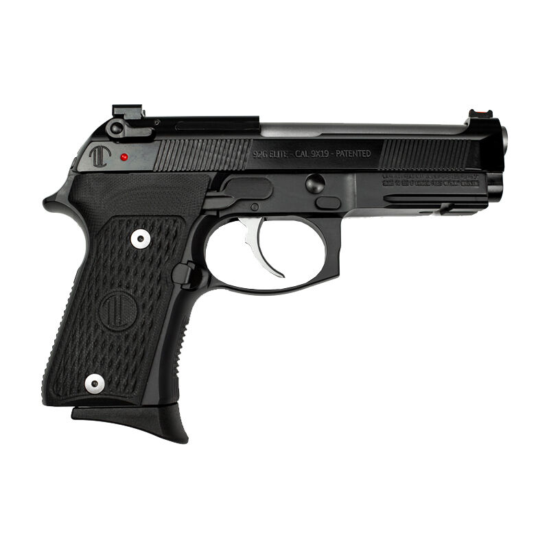 "Beretta 92 Elite Langdon Tactical Tech Compact 9mm Luger Semi Auto Pistol 4.25"" Stainless Barrel 15 Rounds LTT Trigger Job G 10 Grip Black Finish"