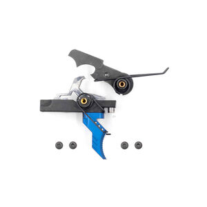 Airborne Arms Extended Reach Geronimo Trigger System Curved Shoe Adjustable Pull Weight Blue