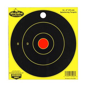 "Birchwood Casey Dirty Bird Chartreuse Targets 6"" Bullseye 16 Pack"