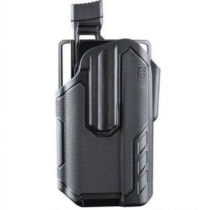 BLACKHAWK! Omnivore Level 2 Multifit Belt Holster Autos With Surefire X300 Left Hand Polymer Black 419001BBL