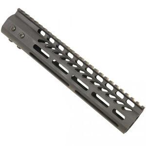 "Guntec AR-15 10"" Ultra Lightweight Thin M-LOK Free Floating Handguard with Monolithic Top Rail 7.9 oz. Aluminum Black"