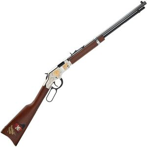 "Henry Shriners Tribute Edition Lever Action Rimfire Rifle .22 LR/L/S 20"" Barrel 16 Rounds Engraved Nickel Receiver Walnut Stock Blued Finish"