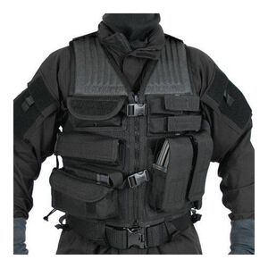 BLACKHAWK! Omega Phalanx Homeland Security Vest S.T.R.I.K.E. MOLLE Webbing Size Adjustable Nylon Black 30EV35BK