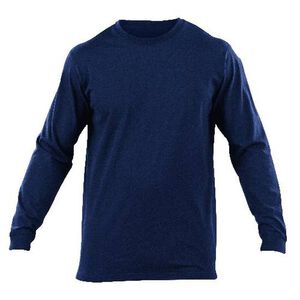 5.11 Tactical Professional Long Sleeve T Shirt Cotton Knit Small Fire Navy 72318