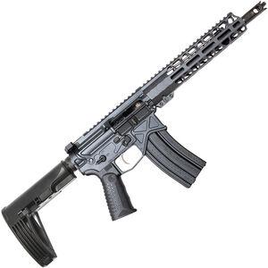 "BAD Authority Elite AR-15 5.56 NATO Semi Auto Pistol 10.5"" Barrel 30 Rounds 9.5"" Freefloat M-LOK Handguard Adjustable Pistol Brace Combat Gray Finish"