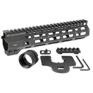 "Midwest Industries AR-15 Combat Rail 9.25"" One Piece Free Float Hand Guard M-LOK/Picatinny 6061 Aluminum Hard Coat Anodized Finish Matte Black"