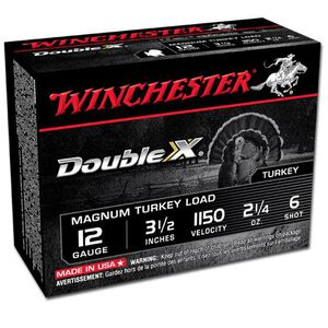 "Winchester Double X 12 Ga 3.5"" #6 Lead 2.25oz 10 Rounds"