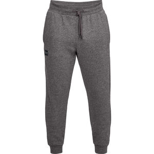 Under Armour Rival Fleece Joggers Cotton Polyester Blend Men's Large Charcoal Light Heather