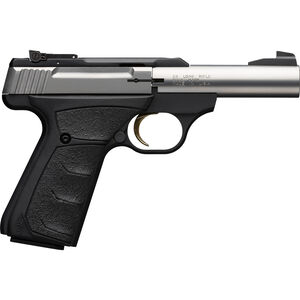 "Browning Buck Mark Micro Bull Stainless .22 LR Semi Auto Rimfire Pistol 4"" Barrel 10 Rounds Synthetic Grips Stainless/Black Finish"