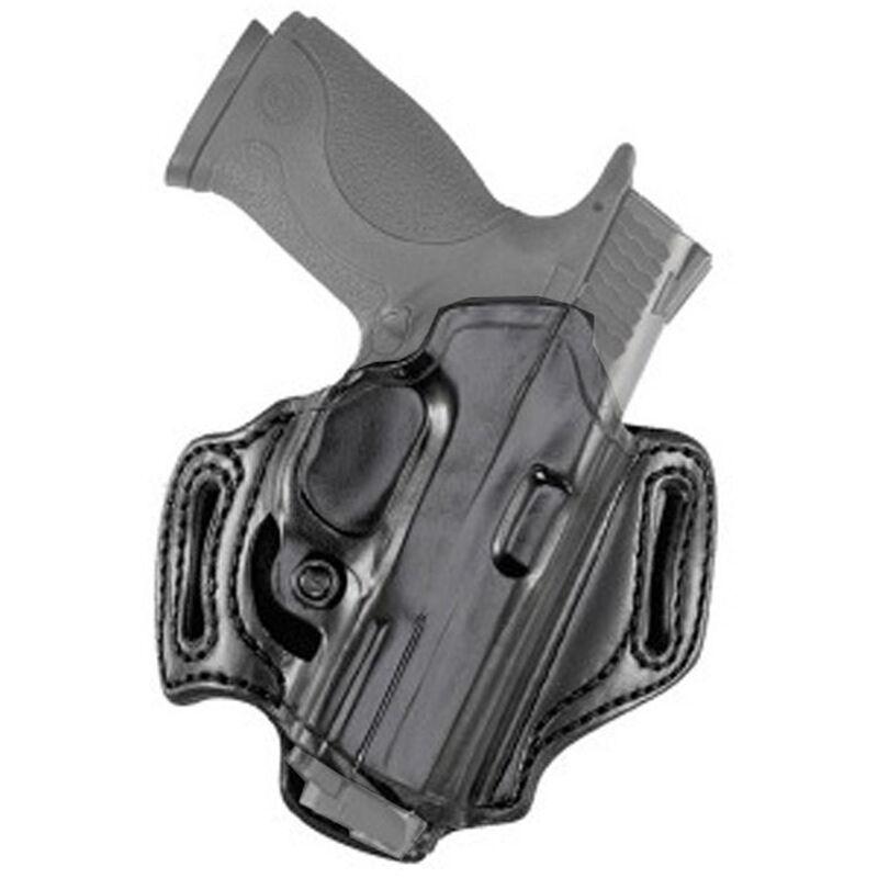 Aker Leather 168A FlatSider Slide XR13 Strapless Open Top Holster H&K USP 9mm/.40 S&W Belt Holster Right Hand Leather Plain Black