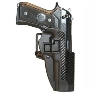 BLACKHAWK! CQC SERPA Belt Holster, Beretta 92/96 (not Elite/Brig), Black Carbon Fiber, Right Hand