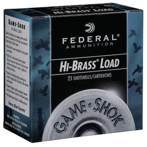 """Federal Game Shok Upland Hi-Brass Load 20 Gauge Ammunition 2-3/4"""" #6 Lead Shot 1 Ounce 1220 fps"""