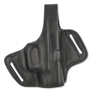 "Bulldog Cases Deluxe Molded Leather Holster Large with Thumb Break Right Hand Autos 3-3.5"" Barrels Black LMH-L"