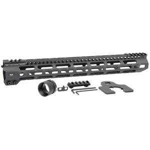 "Midwest Industries AR-15 Combat Lightweight 15"" One Piece Free Float M-LOK Hand Guard 6061 Aluminum Hard Coat Anodized Matte Black"