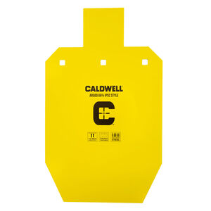 Caldwell AR500 66% IPSC Steel Target Plate Yellow 1116702
