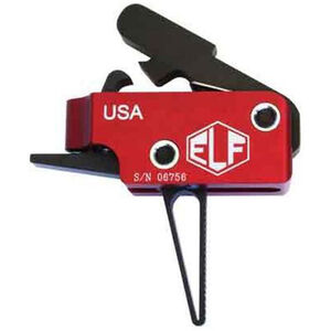 Elftmann Tactical AR-15 Drop In Match Trigger Straight Adjustable Red/Black MATCH-S