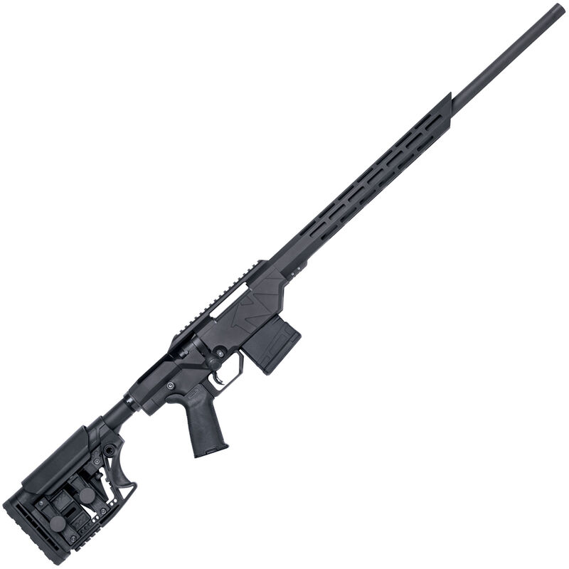 """Mossberg MVP Precision Bolt Action Rifle .308 Win 20"""" Threaded Barrel 10 Rounds M-LOK Compatible Forend Luth-AR MBA-3 Adjustable Stock Matte Black"""