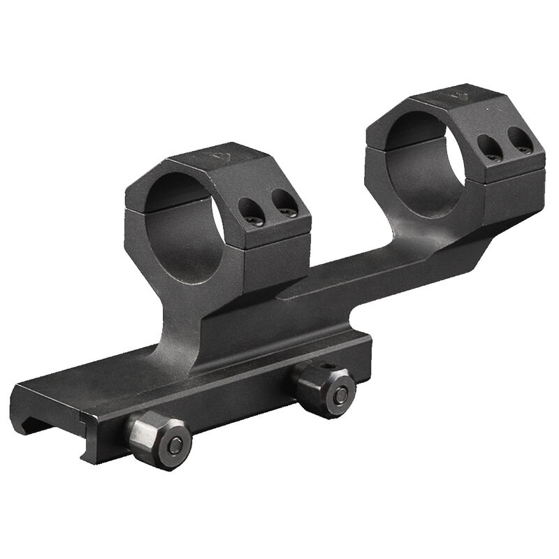 "AIM Sports AR-15 Cantilever Scope Mount 1"" Rings 1.5"" Height Aluminum Black"