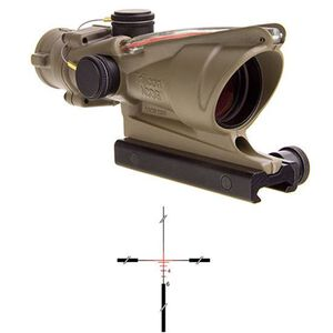 Trijicon ACOG 4x32 Red Dual Illuminated .223 Crosshair Reticle with TA51 Mount, Cerakote Flat Dark Earth
