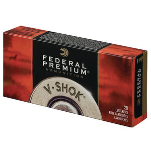 Federal V-Shok .220 Swift Ammunition 20 Rounds 40 Grain Nosler Ballistic Tip Flat Base Projectile 4250fps